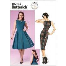 Misses Dress Butterick Pattern 6094.