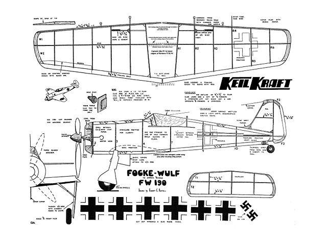 Focke Wulf FW 190 - plan thumbnail