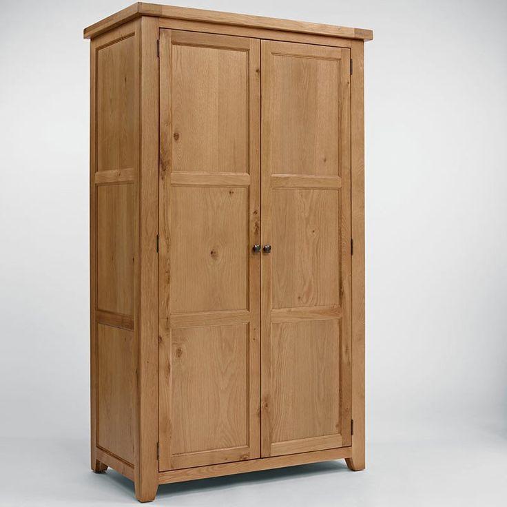 Devon Solid Oak Wardrobe (Size Hanging, Gents, Triple) - Full Hanging - Wardrobe - Ametis - Space & Shape - 1