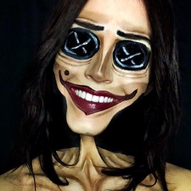 Day 90 Other Mother Coraline 100daymakeupchallenge 30daymakeupchallenge Halloween Costumes Makeup Fantasy Makeup Horror Makeup