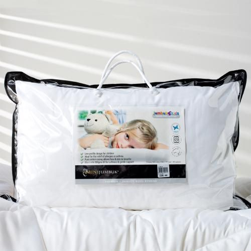 The Jumbuk4Kids pillow is specially designed for children, with a low profile giving gentle support and comfot during your childs night sleep