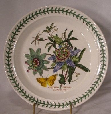 PORTMEIRION china BOTANIC GARDEN Dinner Plate - Blue Passion Flower