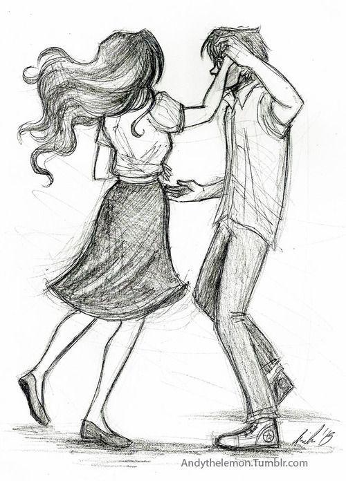 dancing couple simple sketch - Google Search