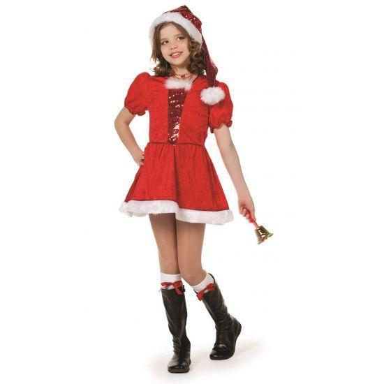 Luxe kerst kostuum voor meisjes. Leuk kerst kostuum van een goede kwaliteit. Het kostuum bestaat uit het kerst jurkje en de kerstmuts. In verschillende maten verkrijgbaar.
