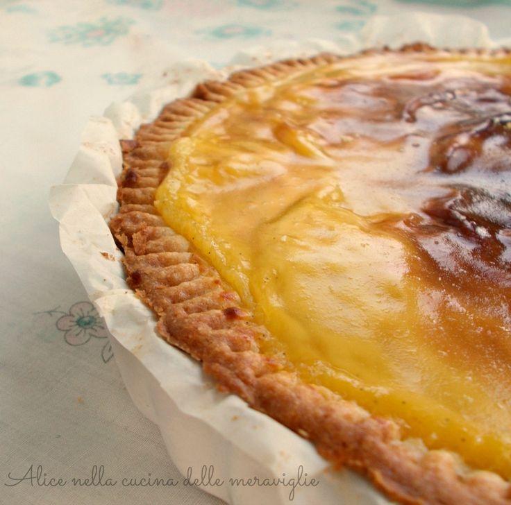 Crostata di ananas e crema, ricetta dolce