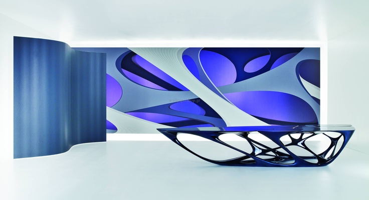 Wallpapers :: Modern :: Zaha Hadid Elastika Part I Purple 3.00x3.30 No 1357 - WallpaperShop
