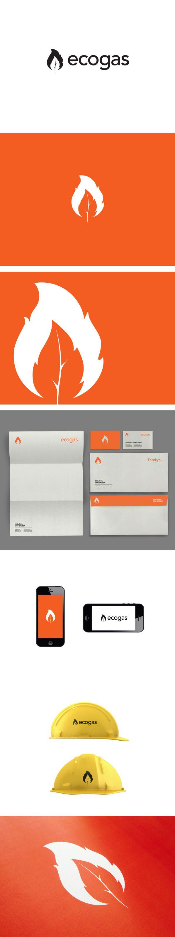 Burnin leaf logo idea. Ecogas Identity by Kyle Wilkinson