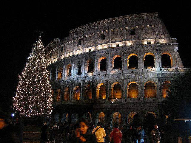 Rome Christmas:At the Vatican, the Pope delivers a Christmas Eve midnight mass, there's a huge Christmas tree in St. Peter's Square and a life-sized Nativity scene in front of the basilica. In Rome, the Piazza del Popolo fills with over 100 Nativities, the Piazza Navona turns into a Christmas market and Christmas Eve mass is held in historic churches throughout the city -- including the Pantheon, where you'll hear Gregorian chants.