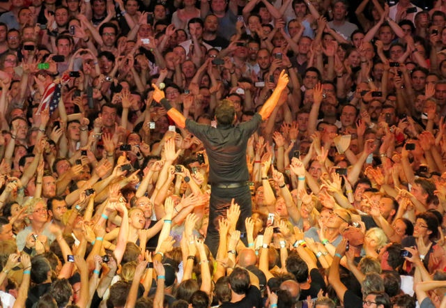 Bruce Springsteen and The E Street Band performing in Paris July 2012