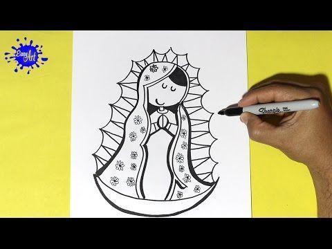 Como Dibujar la Virgen de Guadalupea - How to Draw a Virgin of Guadalupe Este video te ayudara a dibujar facil y rapido, como dibujar la virgen ,how to draw ...