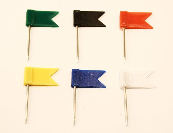 Need extra pins?  Cute little flag pins for your cork map. Perfect for tracking…