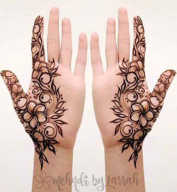 Modern Henna Mehndi Design