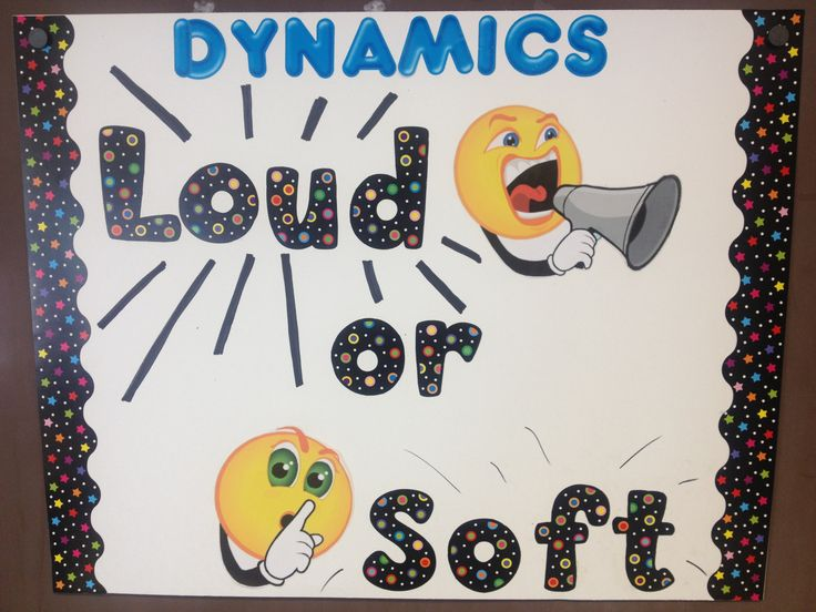 Dynamics: music can be loud or soft Elementary music class visual