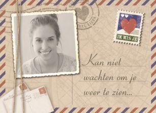 Liefde kaart - Vriendschapskaart - kan-niet-wachten-om-je-weer-te-zien