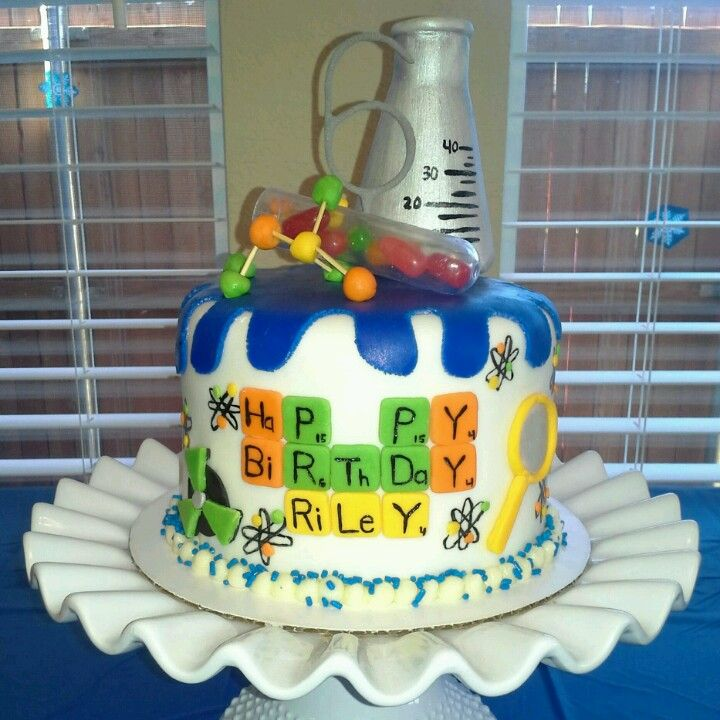 Science Cake Science Themed Party Pinterest