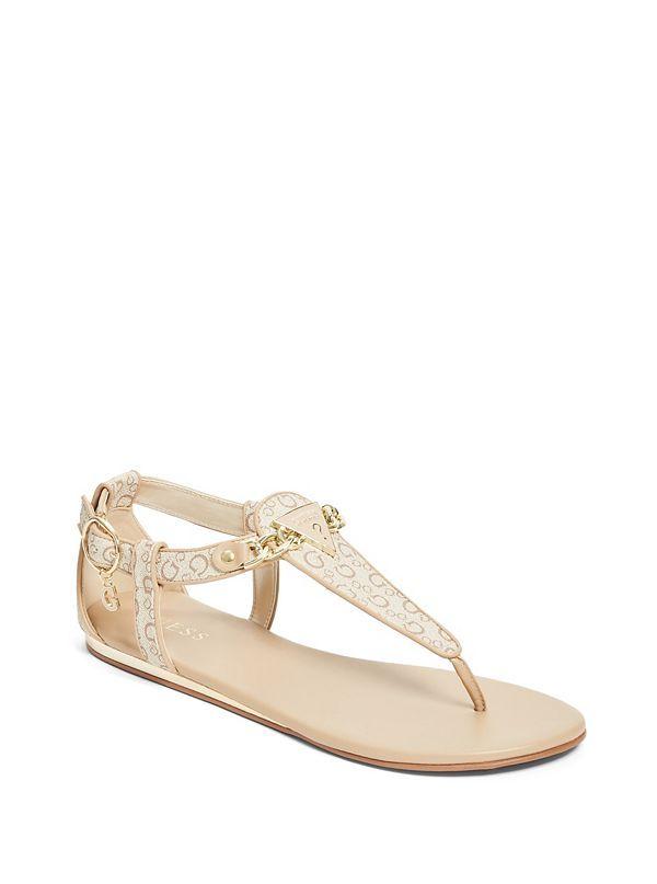 fcc6ca383d6b8 Siara Logo Sandals | GuessFactory.com | Guess | Sandals, T strap ...