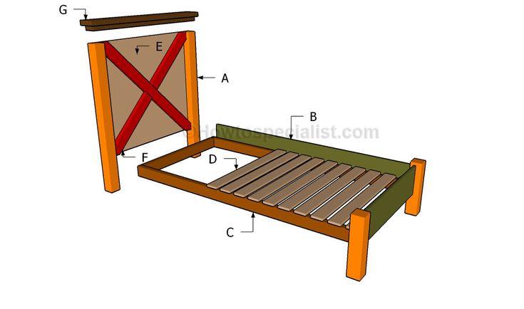 17 best images about bed on pinterest diy platform bed build a bed and king size bed frame. Black Bedroom Furniture Sets. Home Design Ideas