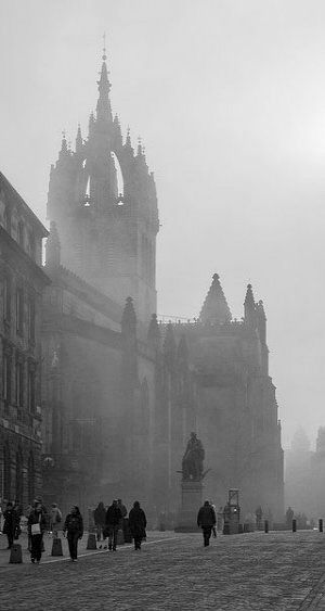 Foggy Edinburgh, Scotland