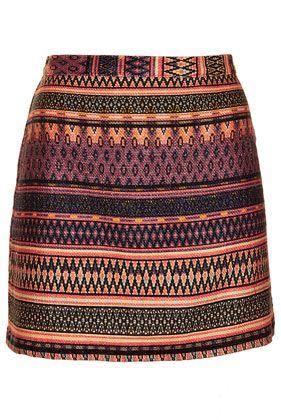 Safari Ikat A-line Skirt - Skirts  - Clothing - top shop