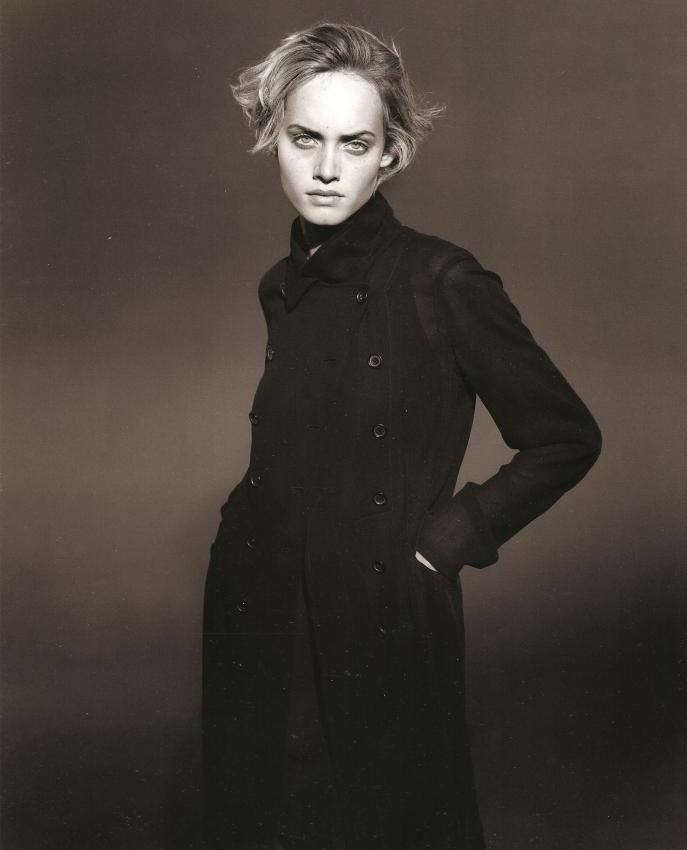 ☆ Amber Valletta | Photography by Peter Lindbergh | For Jil Sander Campaign