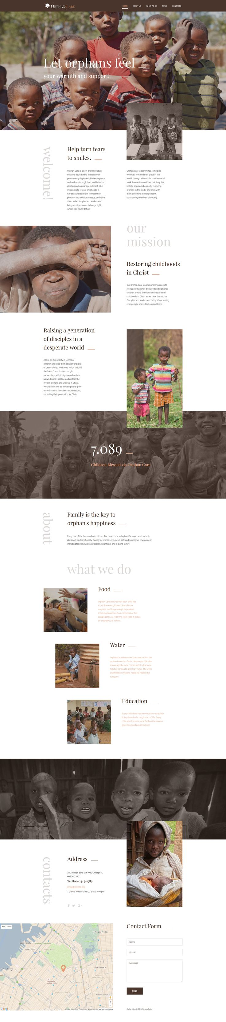 Child Charity Responsive Website Template…