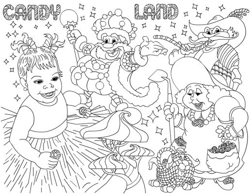 candy land sweet shoppe birthday party ideas - Candyland Pictures To Color