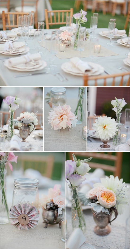 shabby chic wedding details