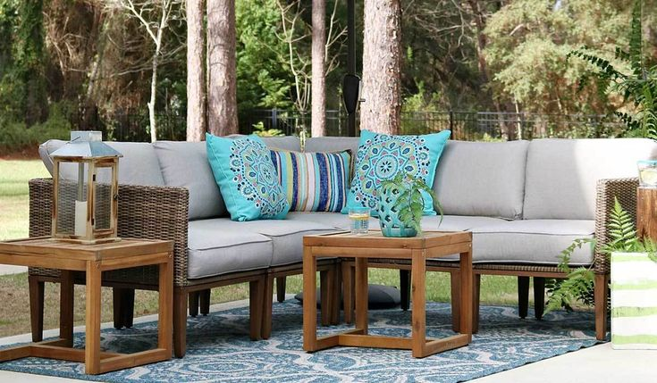 Warmer weather is on the horizon and it's time to get that outdoor living space in tip-top shape with these outdoor furniture finds. #outdoorfurniture #outdoor #patio