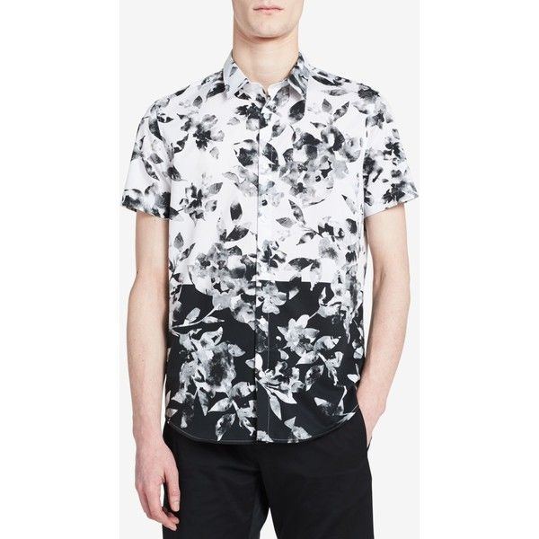 Cheap Price Wholesale Price Cheap Sale Affordable Calvin Klein Floral Abstract Print Shirt Shop Offer Cheap Price cPHU67IdD