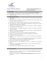 Image result for software test engineer resume 2 years experience