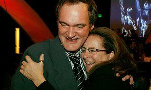 Quentin Tarantino and Sally Menke in 2007.