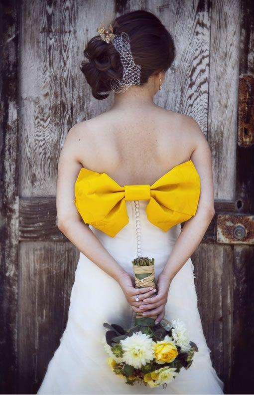 Oversize yellow bow, Boutwell Studio