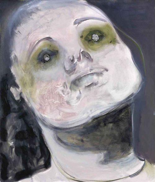 Marlene Dumas (South African/Dutch, b. 1953), In God We Trust (Paying the Ferry Man), 2008. Oil on canvas, 130 x 110 cm.