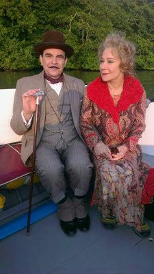 Hercule Poirot and his friend Mrs. Ariadne Oliver