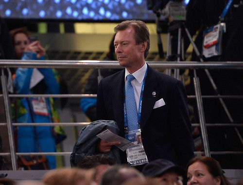 Grand Duke Henri of Luxembourg attending the Opening Ceremony of the Sochi 2014 Winter Olympics at Fisht Olympic Stadium