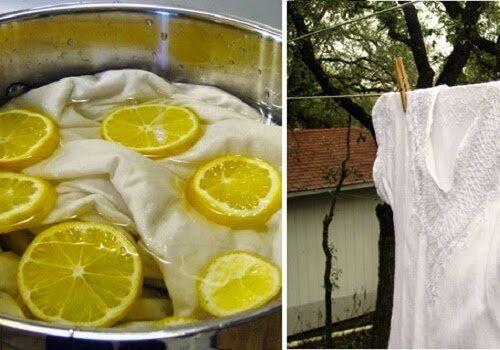 Prodotti naturali per sbiancare il bucato senza elementi chimici