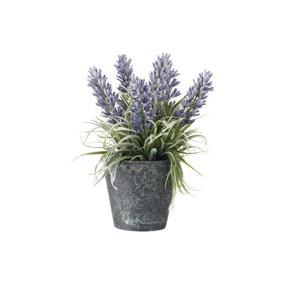 Artificial Lavender Flower in Pot, Small