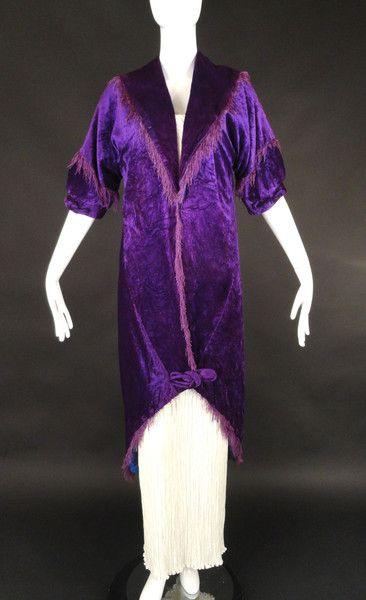 Jacques Doucet-1912 French Couture Purple Velvet Coat-NEW ITEM   http://vintage-martini.myshopify.com/collections/womens-clothing-edwardian/products/jacques-doucet-1912-french-couture-purple-velvet-coat-new-item