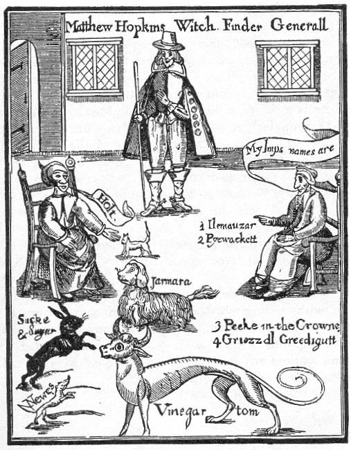 """Matthew Hopkins, perhaps the most famous name in the history of the English witch hunt, was more commonly known as the ""General of the Witch Hunt"".   Over the course of his rule from 1644-1646, he was responsible for the condemning and execution of 230 persons accused  of sorcery, more than all of the other witch hunters combined, at the peak of the 160 year long witch craze in the country."""