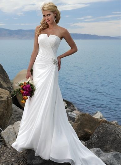 Madeline's:  A-line Chiffon Sleeveless bridal gown