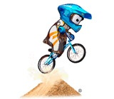 Cycling-bmx mascot looking very cool!