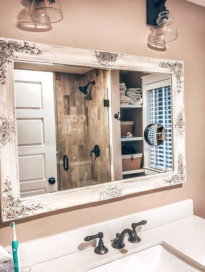 Beautifully Framed Bathroom Mirrors Bathroom Mirror Frame Shabby Chic Bathroom Bathroom Decor