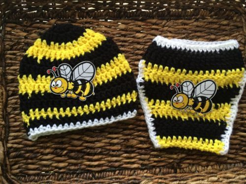 This adorable gift set includes handmade, crochet items. This gift will really stand out at baby showers. So adorable on babies and make EXCELLENT photo props. Tons of love and care went into every si