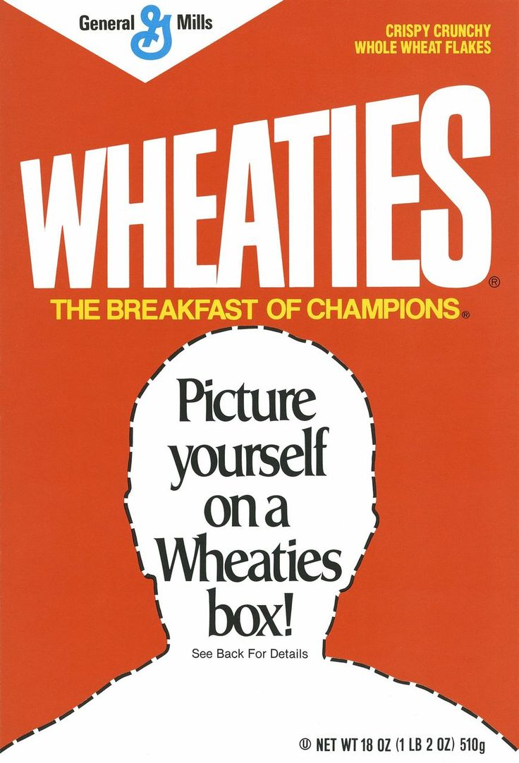 Can you picture yourself on a wheaties box cereal fans for Design your own cereal box template