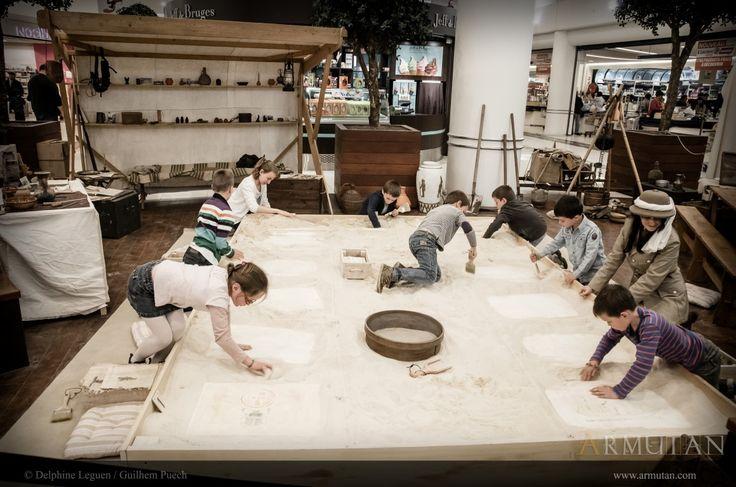 ©#armutan ©#delphineleguen ©#guilhempuech #explorateurs #archeologie #fouilles #enfants #animation