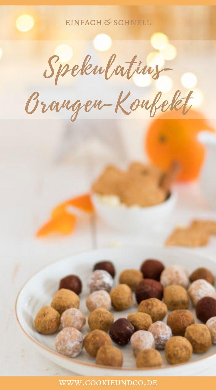 Spekulatius-Orangen-Konfekt. Leckeres Konfekt für Weihnachten schnell und einfa… – Rezepte