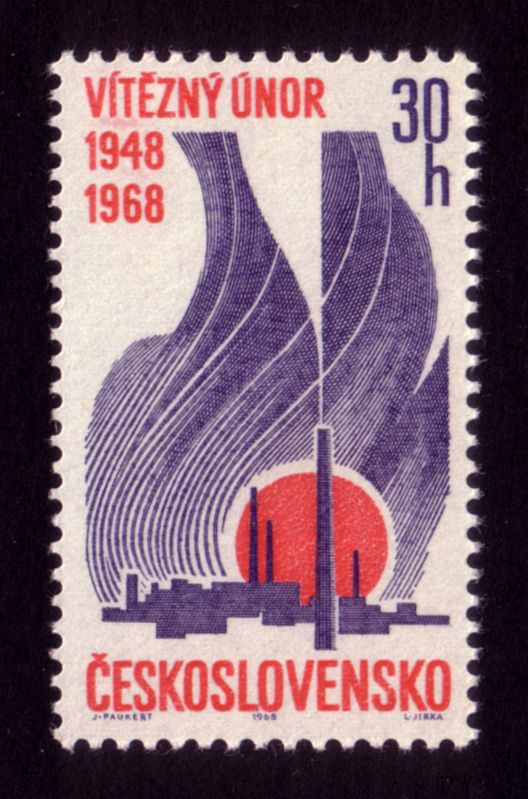 https://flic.kr/p/8FQddt | Factories and rising sun | Designer: Josef Paukert / Engraver: Ladislav Jirka / Year: 1968 / 20th anniversary of February revolution