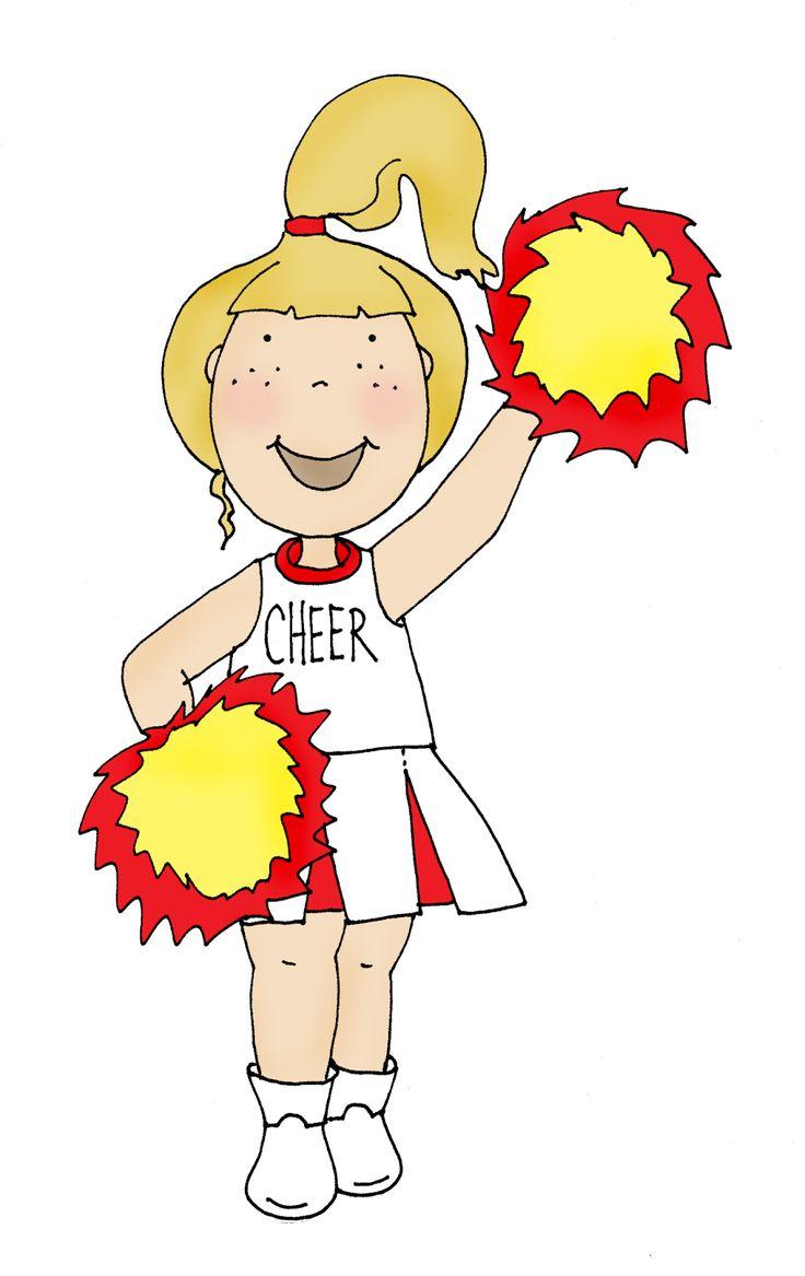 Free Dearie Dolls Digi Stamps: Cheerleader