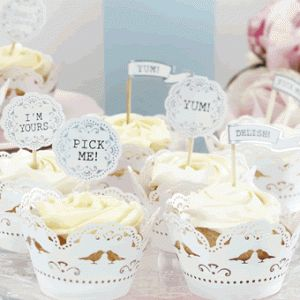 Vintage Lace Cupcake Wrappers