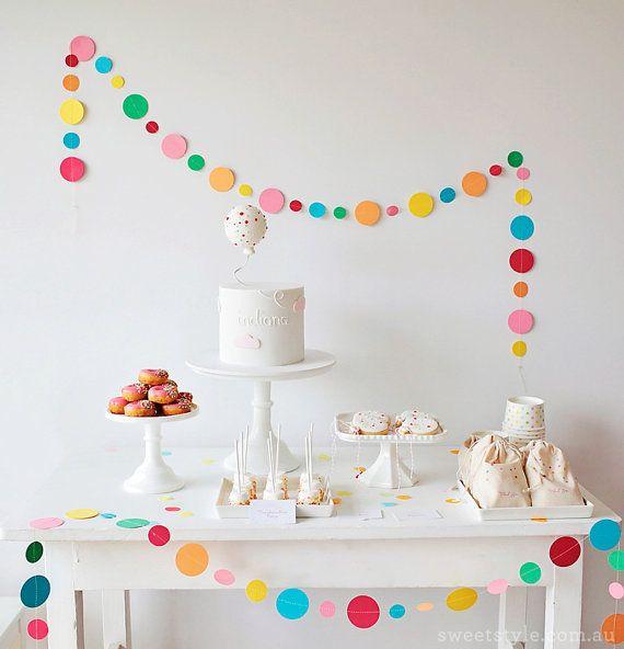 Sprinkle & Confetti Garland  Spotty Circle by ByPennyLaneStudio, $17.00